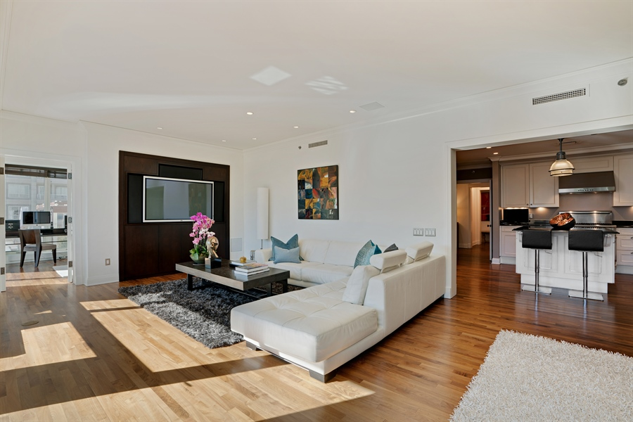 Real Estate Photography - 840 N. LAKE SHORE Drive, Unit 1803, Chicago, IL, 60611 - Living Room