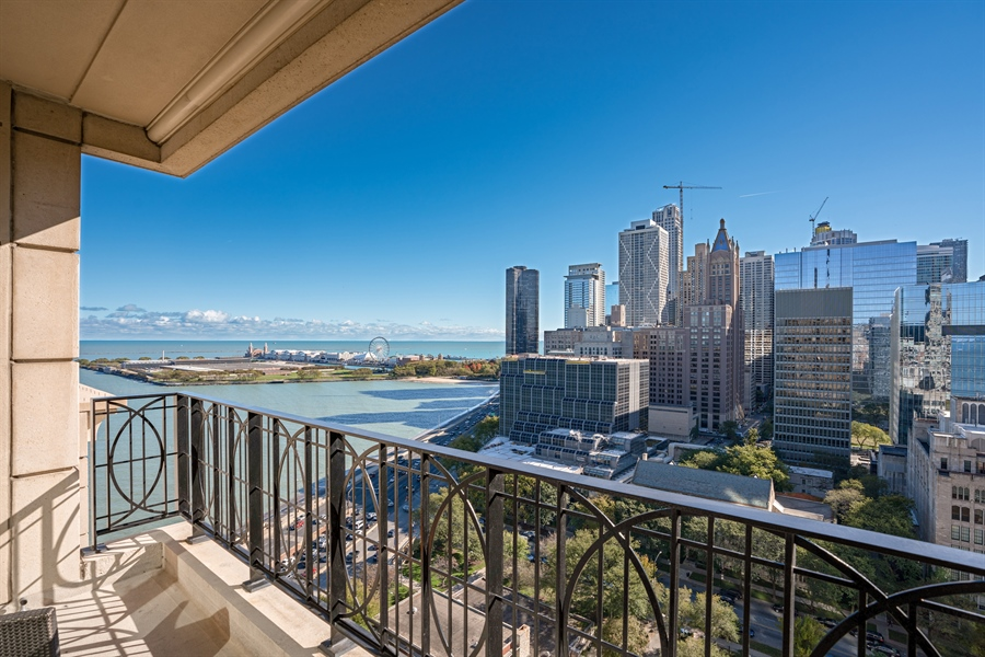 Real Estate Photography - 840 N. LAKE SHORE Drive, Unit 1803, Chicago, IL, 60611 - Terrace Lake View