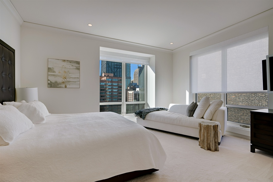 Real Estate Photography - 840 N. LAKE SHORE Drive, Unit 1803, Chicago, IL, 60611 - Master Bedroom