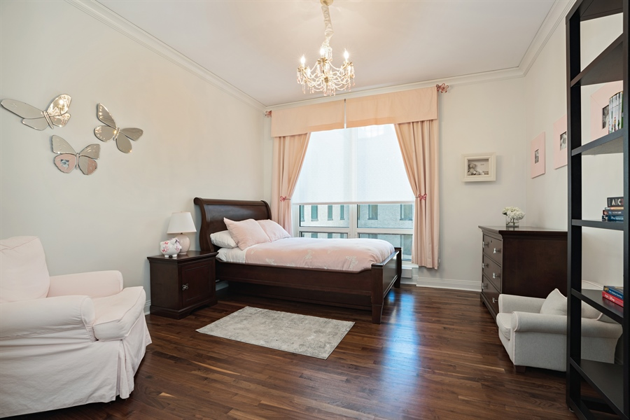 Real Estate Photography - 840 N. LAKE SHORE Drive, Unit 1803, Chicago, IL, 60611 - Ensuite Bedroom 3