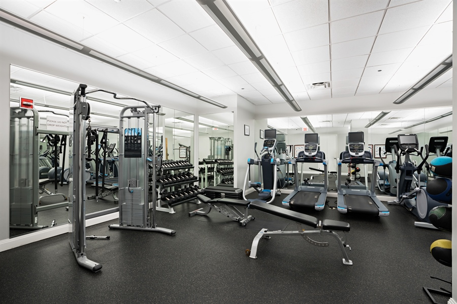 Real Estate Photography - 840 N. LAKE SHORE Drive, Unit 1803, Chicago, IL, 60611 - Gym