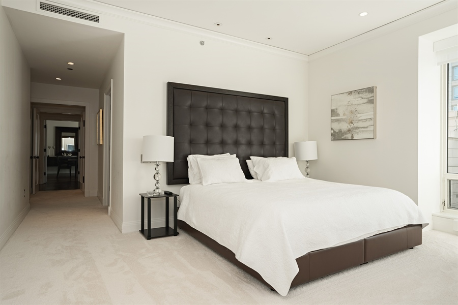 Real Estate Photography - 840 N. LAKE SHORE Drive, Unit 1803, Chicago, IL, 60611 - Master Bedroom Suite