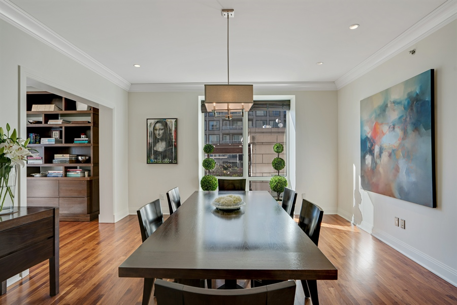 Real Estate Photography - 840 N. LAKE SHORE Drive, Unit 1803, Chicago, IL, 60611 - Dining Room