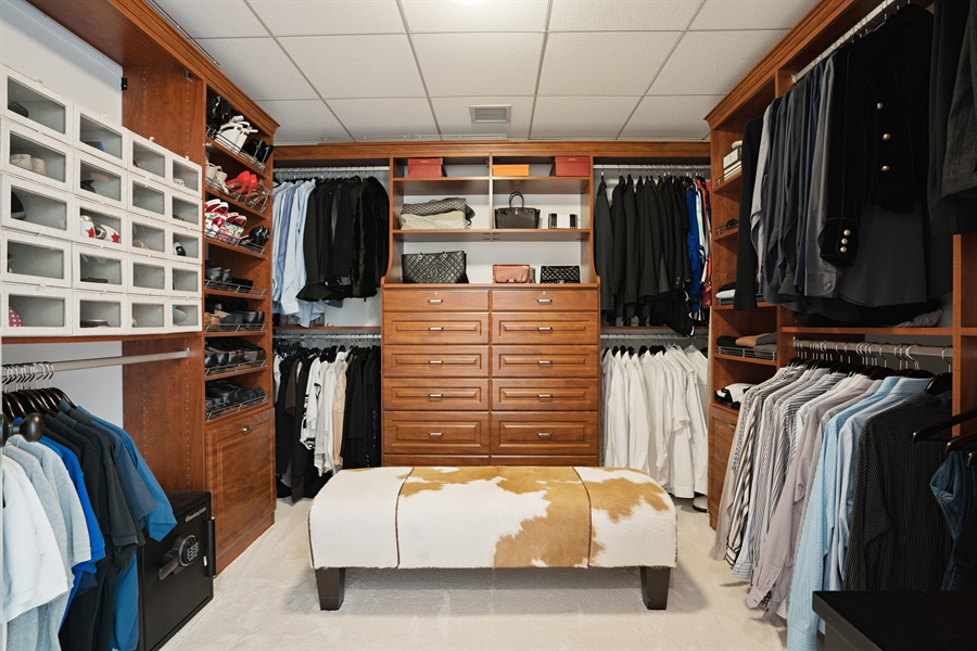Real Estate Photography - 840 N. LAKE SHORE Drive, Unit 1803, Chicago, IL, 60611 - Master Bedroom Closet