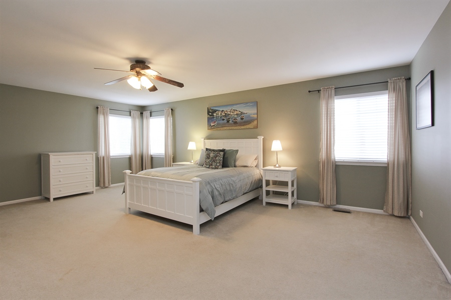 Real Estate Photography - 468 Mockingbird Court, Lindenhurst, IL, 60046 - Master Bedroom