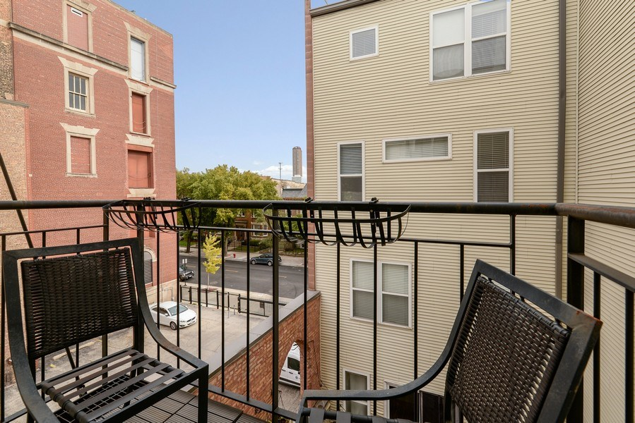 Real Estate Photography - 3516 N. SHEFFIELD Avenue, Unit 3RN, Chicago, IL, 60657 - Balcony