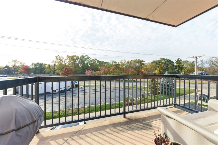 Real Estate Photography - 1227 Brown Street, Unit 304, Des Plaines, IL, 60016 - Balcony