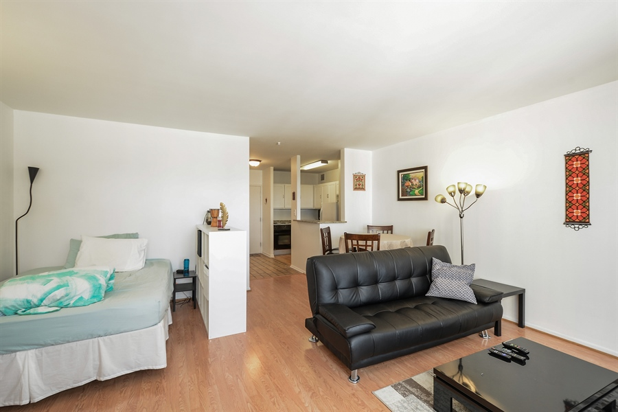 Real Estate Photography - 777 N. Michigan Avenue, Unit 3007, Chicago, IL, 60611 - Kitchen / Living Room