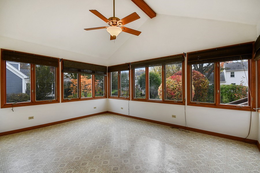 Real Estate Photography - 412 Tanglewood Lane, Naperville, IL, 60563 - Sunroom