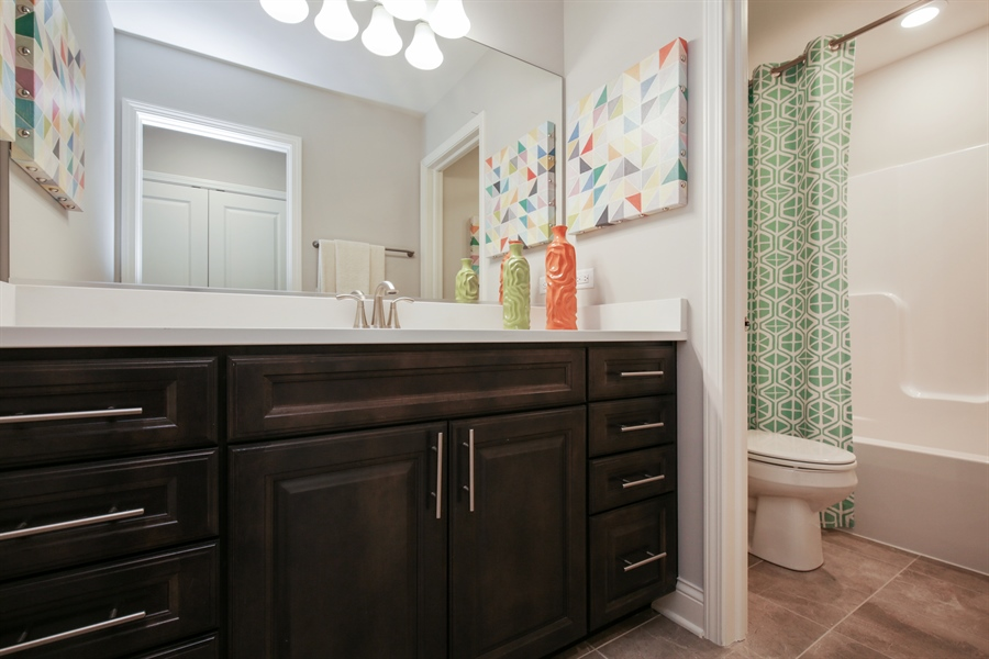 Real Estate Photography - 1015 Mayhaw Drive, Crystal Lake, IL, 60012 - 2nd Bathroom