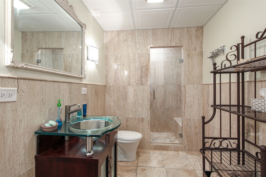 Real Estate Photography - 25603 N. warwick Road, Tower Lakes, IL, 60010 - 3rd Bathroom