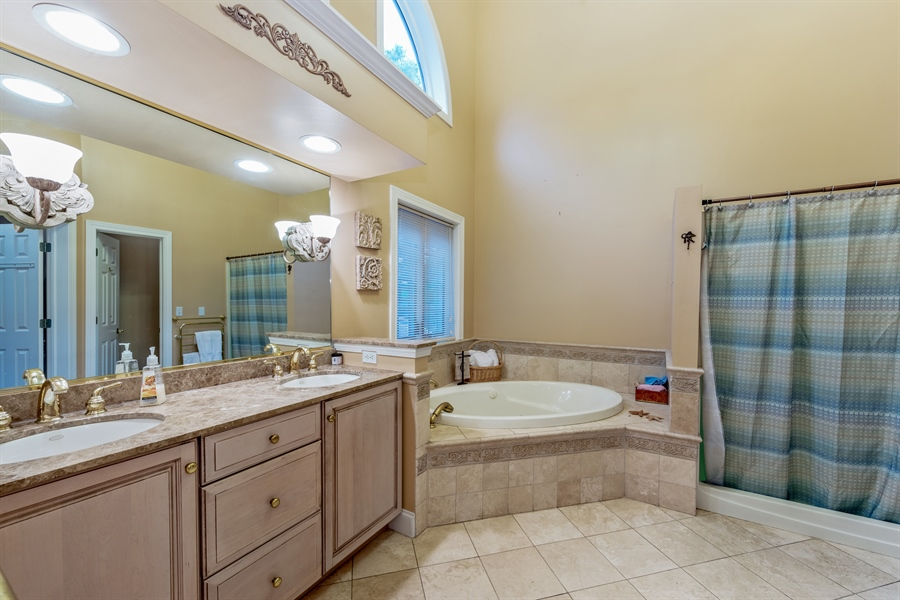 Real Estate Photography - 25603 N. warwick Road, Tower Lakes, IL, 60010 - Master Bathroom
