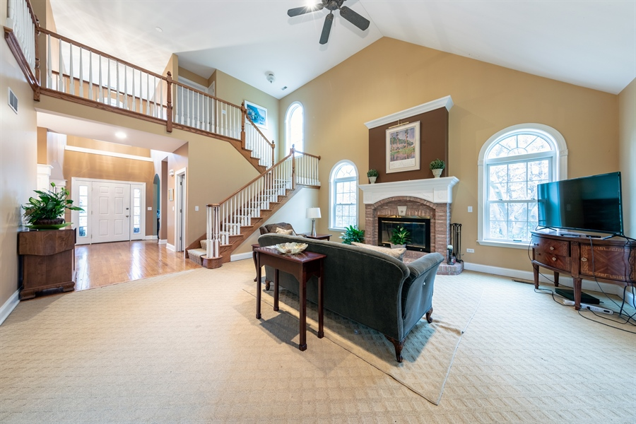 Real Estate Photography - 25603 N. warwick Road, Tower Lakes, IL, 60010 - Foyer/Living Room