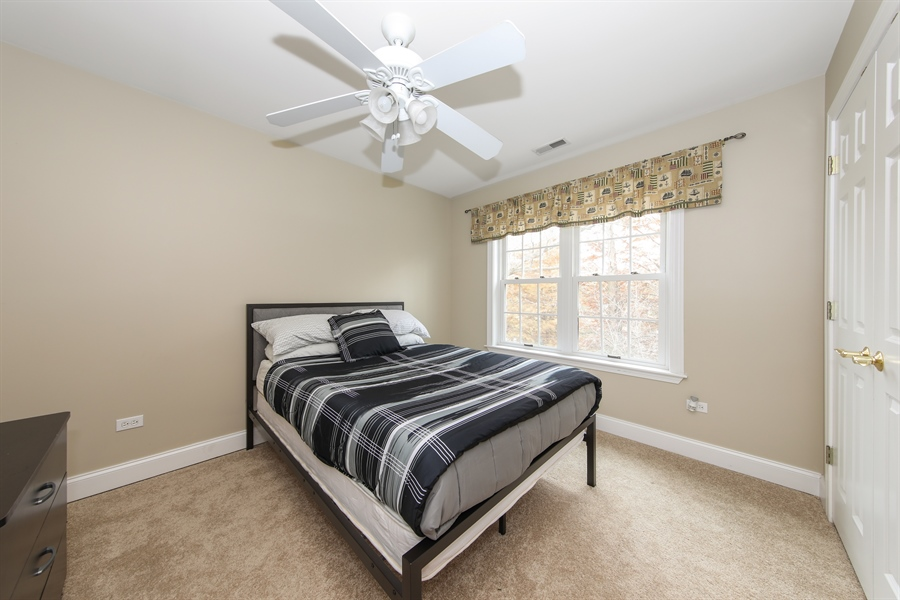 Real Estate Photography - 25603 N. warwick Road, Tower Lakes, IL, 60010 - 2nd Bedroom