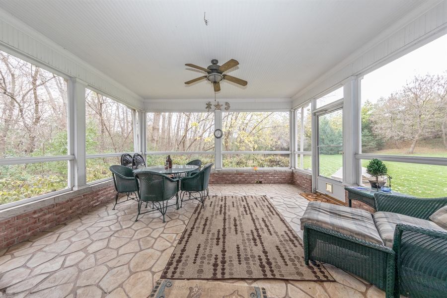 Real Estate Photography - 25603 N. warwick Road, Tower Lakes, IL, 60010 - Porch
