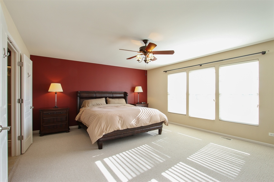 Real Estate Photography - 1167 Blue Heron Circle, Antioch, IL, 60002 - Spacious Master Bedroom with Private Bath