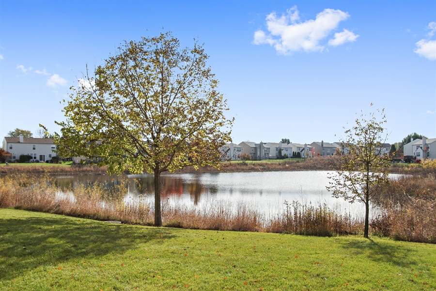 Real Estate Photography - 1167 Blue Heron Circle, Antioch, IL, 60002 - Peaceful and serene views of pond!
