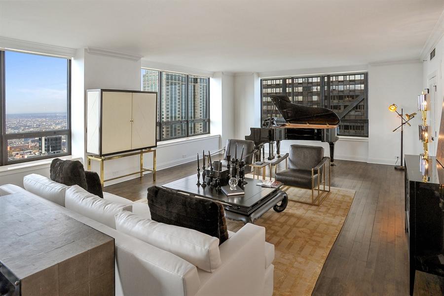 Real Estate Photography - 180 E Pearson, Unit 5501, Chicago, IL, 60611 - Living Room