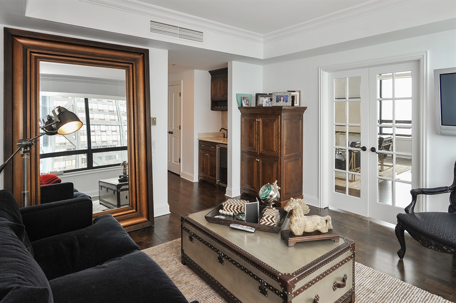 Real Estate Photography - 180 E Pearson, Unit 5501, Chicago, IL, 60611 - Family Room/Third Bedroom