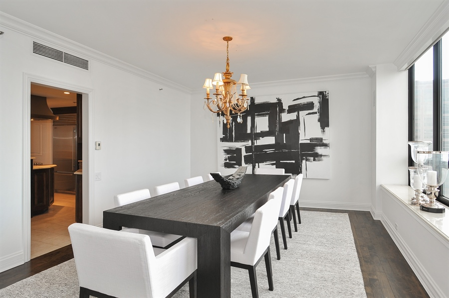 Real Estate Photography - 180 E Pearson, Unit 5501, Chicago, IL, 60611 - Dining Area