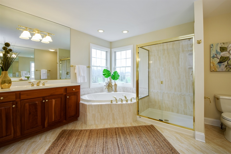 Real Estate Photography - 28413 W. Harvest Glen Circle, Cary, IL, 60013 - Master Bathroom