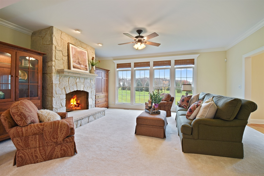 Real Estate Photography - 28413 W. Harvest Glen Circle, Cary, IL, 60013 - Family Room