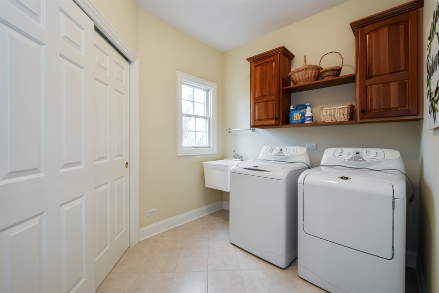 Real Estate Photography - 28413 W. Harvest Glen Circle, Cary, IL, 60013 - Laundry Room