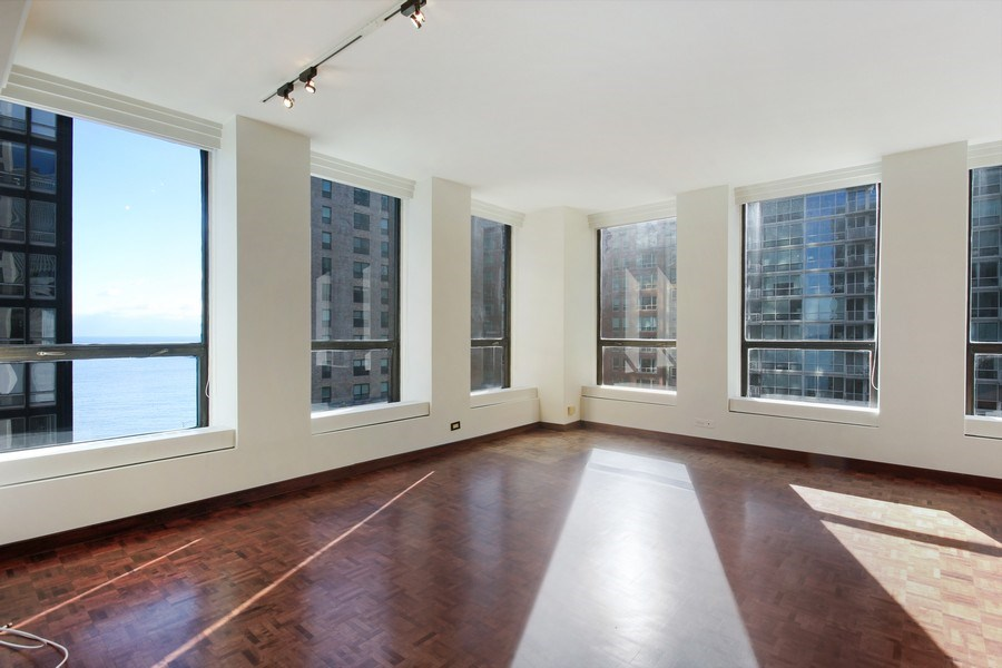 Real Estate Photography - 260 E. Chestnut Street, Unit 1412, Chicago, IL, 60611 - Living Room