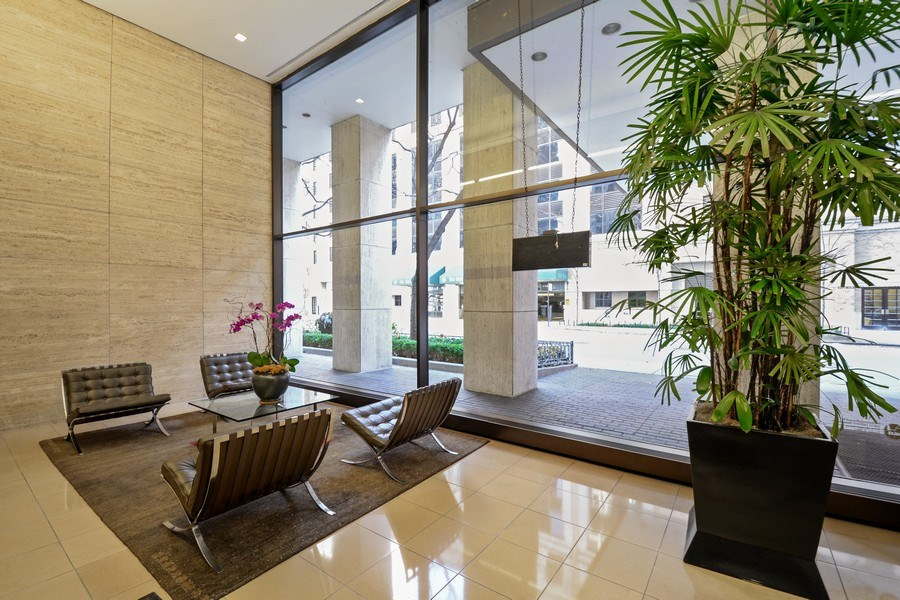 Real Estate Photography - 260 E. Chestnut Street, Unit 1412, Chicago, IL, 60611 - Lobby
