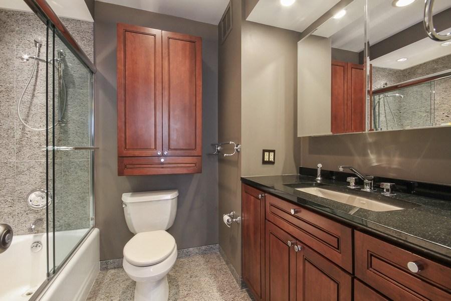 Real Estate Photography - 260 E. Chestnut Street, Unit 1412, Chicago, IL, 60611 - Master Bathroom