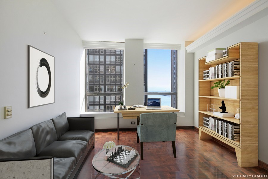 Real Estate Photography - 260 E. Chestnut Street, Unit 1412, Chicago, IL, 60611 - 2nd Bedroom