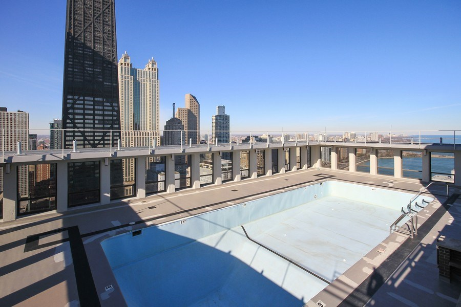 Real Estate Photography - 260 E. Chestnut Street, Unit 1412, Chicago, IL, 60611 - Pool