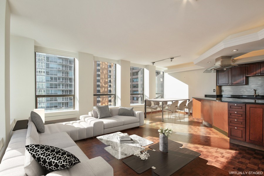 Real Estate Photography - 260 E. Chestnut Street, Unit 1412, Chicago, IL, 60611 - Dining Area