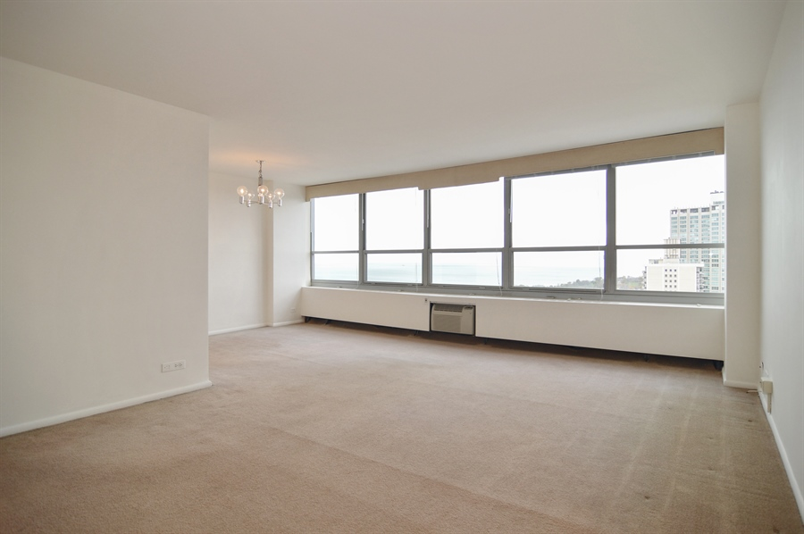 Real Estate Photography - 3550 N. Lake Shore Drive, Unit 2706, Chicago, IL, 60657 - Living Room