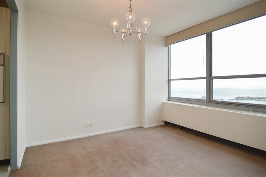 Real Estate Photography - 3550 N. Lake Shore Drive, Unit 2706, Chicago, IL, 60657 - Dining Room