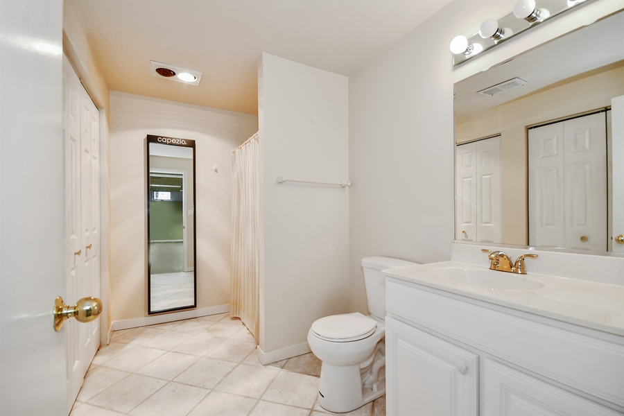 Real Estate Photography - 5N737 Dunham Trails Road, Wayne, IL, 60184 - In-Law Suite Full Bath in Finished Basement
