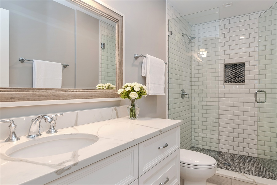 Real Estate Photography - 918 Yale Street, Wilmette, IL, 60091 - 3rd Bathroom