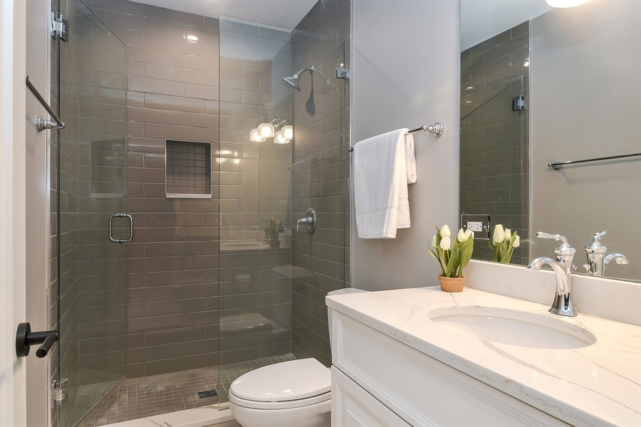 Real Estate Photography - 918 Yale Street, Wilmette, IL, 60091 - Basement Bath