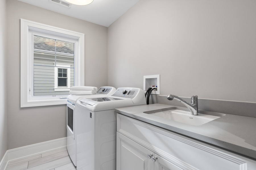 Real Estate Photography - 918 Yale Street, Wilmette, IL, 60091 - Laundry Room