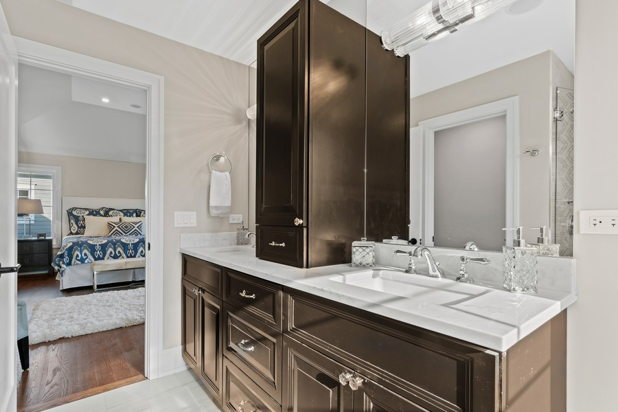 Real Estate Photography - 918 Yale Street, Wilmette, IL, 60091 - Master Bathroom