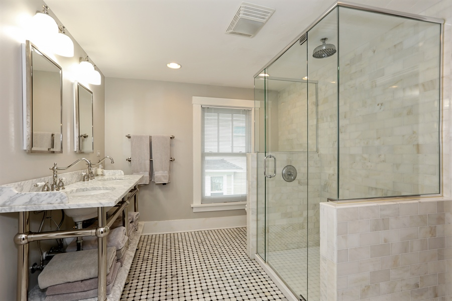 Real Estate Photography - 21 S. Columbia Street, Naperville, IL, 60540 - Master Bathroom