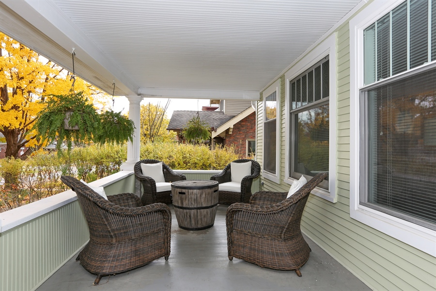 Real Estate Photography - 21 S. Columbia Street, Naperville, IL, 60540 - Porch