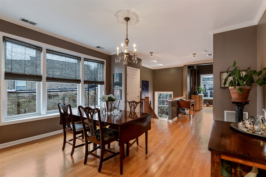 Real Estate Photography - 5638 North Wayne Ave, 3, Chicago, IL, 60660 - Dining Room