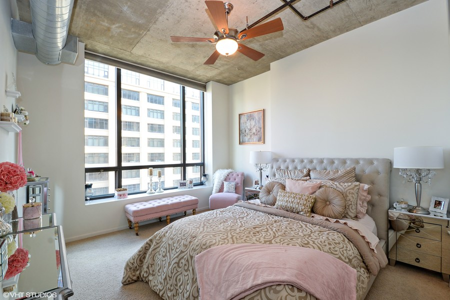 Real Estate Photography - 520 S. State Street, Unit 1109, Chicago, IL, 60605 - Master Bedroom