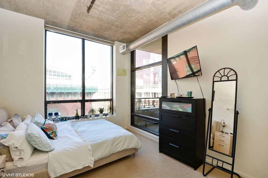 Real Estate Photography - 520 S. State Street, Unit 1109, Chicago, IL, 60605 - Bedroom
