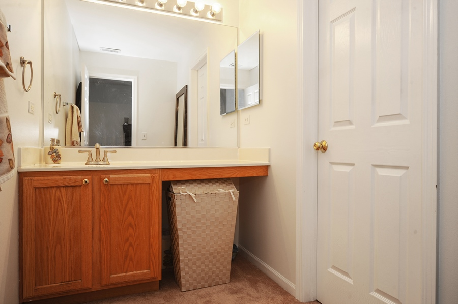 Real Estate Photography - 3154 FALLING WATERS Lane, Unit 3154, Lindenhurst, IL, 60046 - One of the vanities in the Jack & Jill bathroom