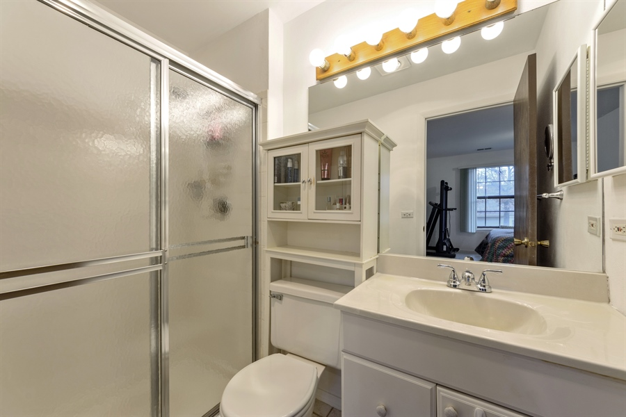 Real Estate Photography - 1056 Deerpath Court, Unit B2, Wheeling, IL, 60090 - Master Bathroom