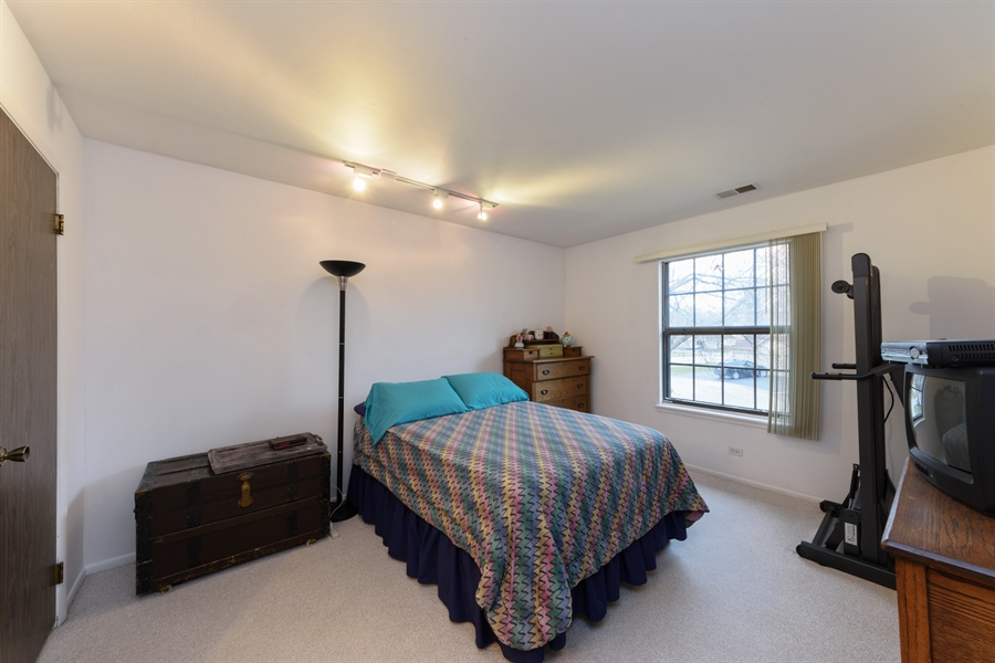 Real Estate Photography - 1056 Deerpath Court, Unit B2, Wheeling, IL, 60090 - Master Bedroom