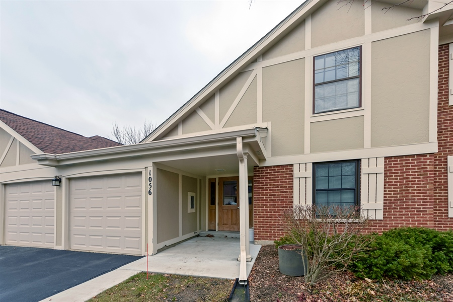 Real Estate Photography - 1056 Deerpath Court, Unit B2, Wheeling, IL, 60090 - Front View