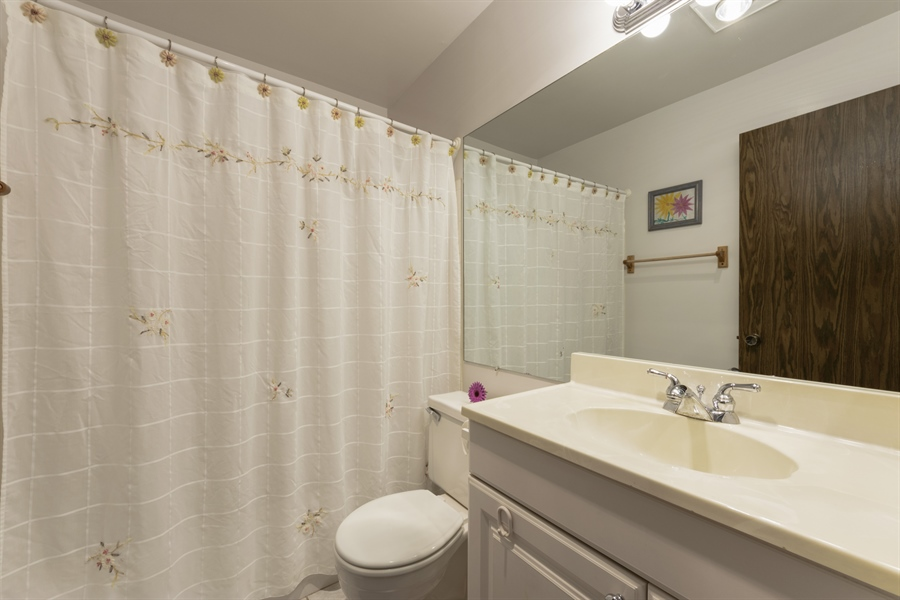 Real Estate Photography - 1056 Deerpath Court, Unit B2, Wheeling, IL, 60090 - 2nd Bathroom